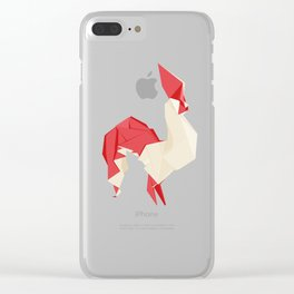 Origami Rooster Clear iPhone Case