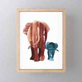 A walk together Framed Mini Art Print