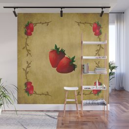 Strawberries Wall Mural