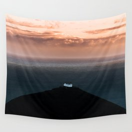 Lonely House by the Sea during Sunset - Landscape Photography Wall Tapestry