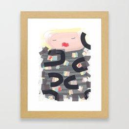 Be a doll - Vindi Vindaloo Design Framed Art Print