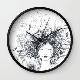 Winter Poppy Fairy Wall Clock