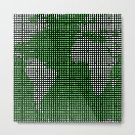 green map Metal Print
