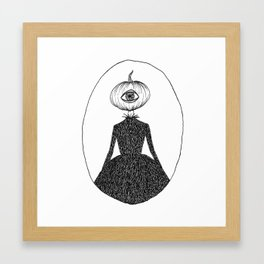 Pumpkin Head Framed Art Print
