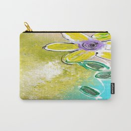 Single Yellow Flower Carry-All Pouch