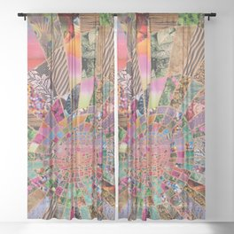 Shitty pink colored Clown Spiderweb Sheer Curtain