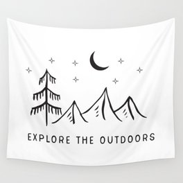 Explore The Outdooors Wall Tapestry