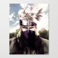 kakashi Canvas Prints featuring Kakashi Hatake by Shibuz4