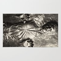 han solo Area & Throw Rugs featuring Han Solo carbonite by Ferdinand Bardamu