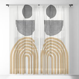 Rainbow and Moon Sheer Curtain