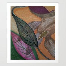 Destiny's Leaf Art Print