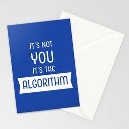 Social Media Algorithm Blues Stationery Cards