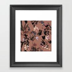 Autumn flowers in the garden Framed Art Print