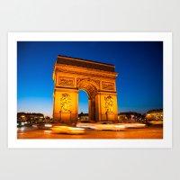 Arc de Triomphe // Paris, France Art Print