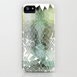 Fractured Silver iPhone Case