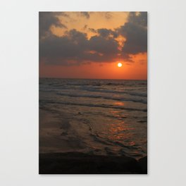 Orange Cream Sunset Canvas Print