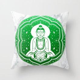 Buda Gautama, Siddharta Gautama, Sakiamuni (green) Throw Pillow