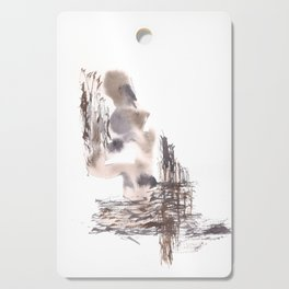 Judgement- 151124  Abstract Watercolour Cutting Board