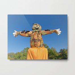 Happy Halloween Scarecrow Metal Print