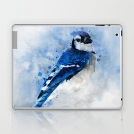 Watercolour blue jay bird Laptop & iPad Skin