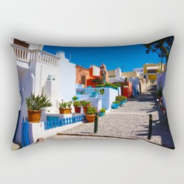 Santorini Alley Rectangular Pillow