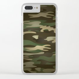 Military Camo Clear iPhone Case