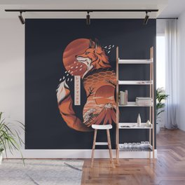 Japanese fox Wall Mural
