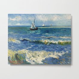 Seascape near Les Saintes-Maries-de-la-Mer by Vincent van Gogh Metal Print