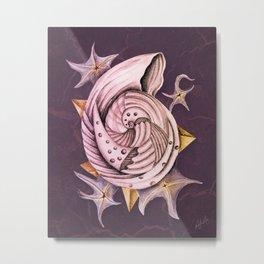 Dystopian Conch - Lavender Metal Print