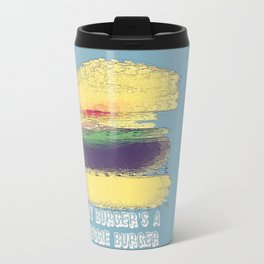 Veggie Burger (blue) Travel Mug