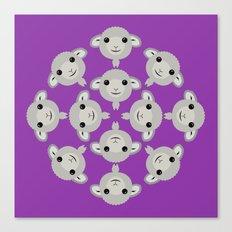 Sheep Circle - 4 Canvas Print