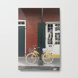 New Orleans Bicycle - Orleans Street Metal Print