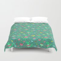 dino Duvet Covers featuring Dino ballet by Anna Alekseeva kostolom3000