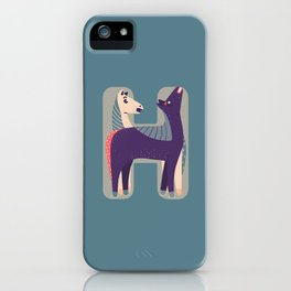 H for Horse iPhone Case