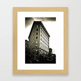 Asheville Building in Black and White Framed Art Print