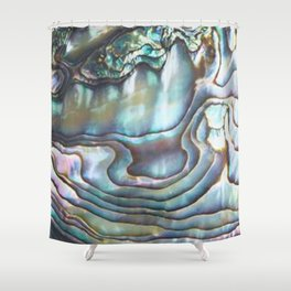 Shimmery Pastel Abalone Shell Shower Curtain