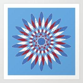 Distressed Kaleidoscope Art Print