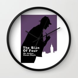 The Sign of Four -Sherlock Holmes Wall Clock