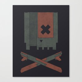 The Nes Skull Canvas Print