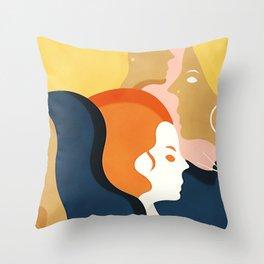 Global #Girlpower - we persist Throw Pillow