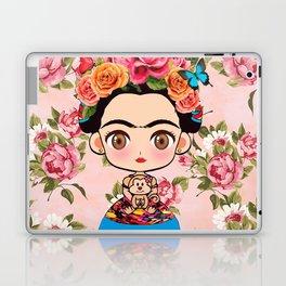 Frida cartoon roses Laptop & iPad Skin