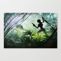 lara croft Canvas Prints featuring Lara Croft: Tomb Raider by LaraRobsGraves