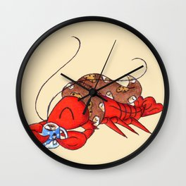 New England Winter Wall Clock