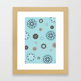 Blue Mandala, Pattern, Digital Design, Shapes Framed Art Print