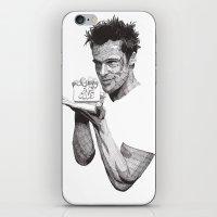 tyler durden iPhone & iPod Skins featuring Tyler Durden II by Rik Reimert