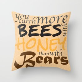 Catch More Bees! Throw Pillow