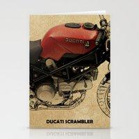 ducati Stationery Cards featuring Ducati Scrambler by Larsson Stevensem