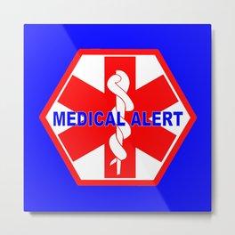 MEDICAL ALERT IDENTIFICATION TAG Metal Print