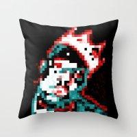 biggie Throw Pillows featuring Biggie by ZachWillard
