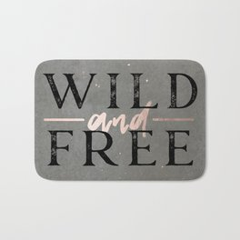 Wild and Free Rose Gold Bath Mat
